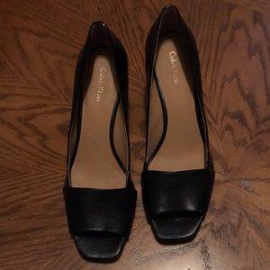 NWOT Calvin Klein Peep Toe Shoes